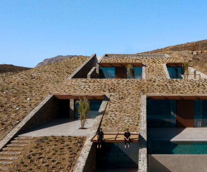 A Holiday House by Mold Architects Disappears into the Rugged Landscape of Serifos
