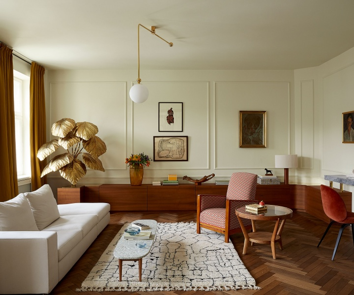 Marta Chrapka Revamps a Pre-War Apartment in Warsaw with Bespoke & Vintage Furnishings