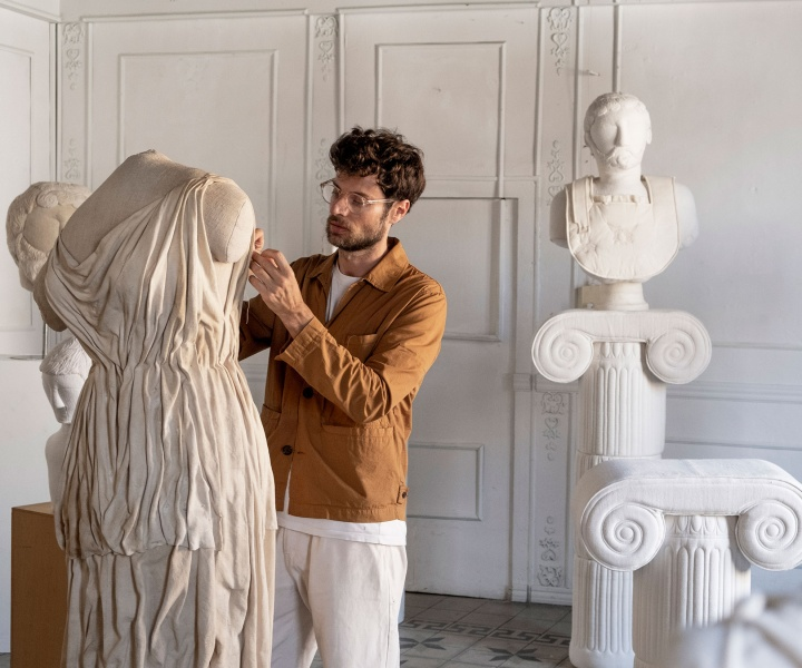 Textile Ruins: Sergio Roger's Subversive Tribute to Classical Sculpture-Making