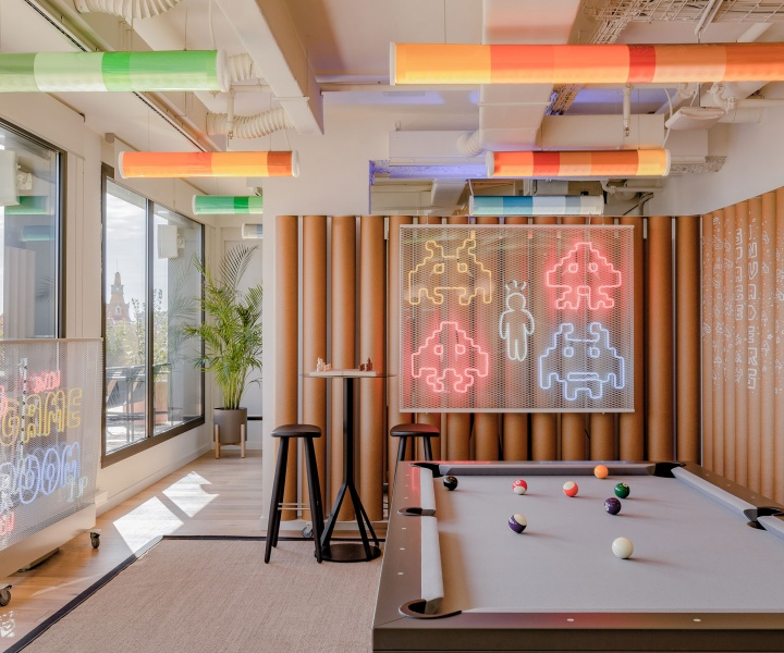 A Fun-Packed Workplace in Barcelona Looks to Pop Culture for Inspiration