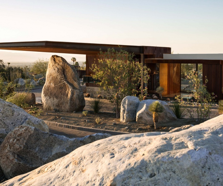 The Desert Palisades Guardhouse by Studio AR+D Architects in Coachella Valley, California