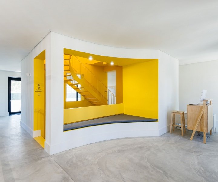 "The Color-Splashed Minimalism of ""Hostel in Parede"""