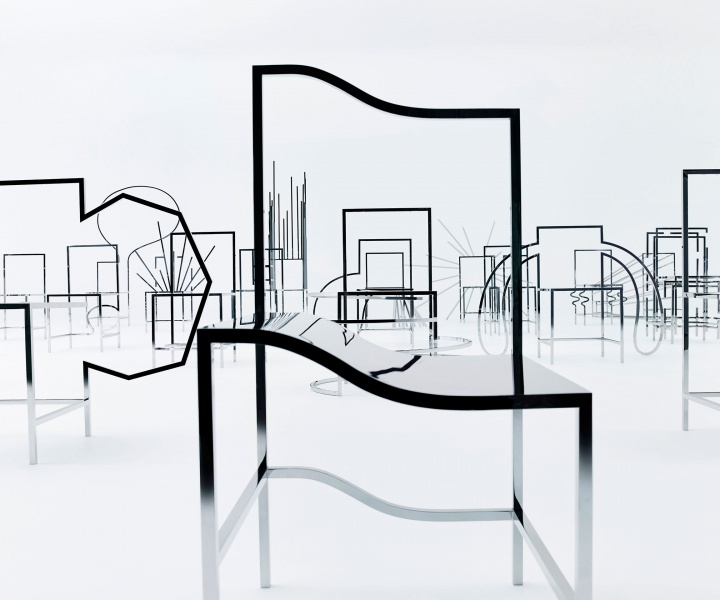 """50 Manga Chairs"" by Nendo Transports Visitors into the World of Japanese Comics"