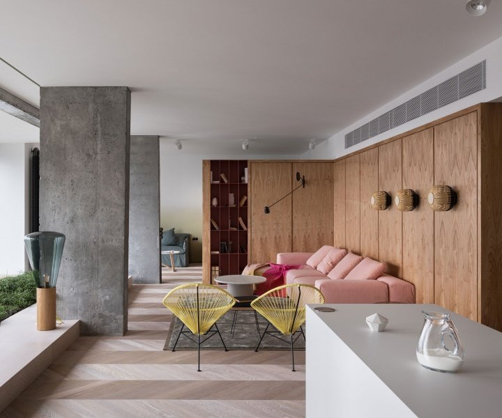 An Apartment of Poetic Modernism in Kiev, Ukraine
