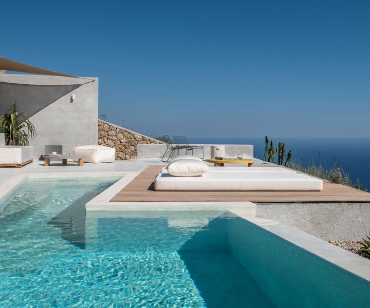 A Summer Retreat's Love Affair with the Big Blue in Santorini