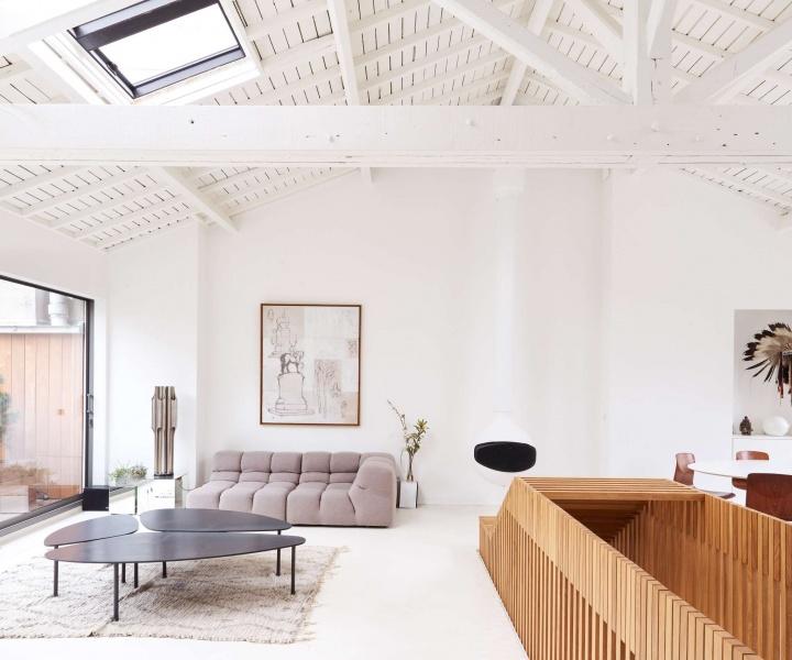 A Parisian Penthouse Embraces its Architectural Heritage