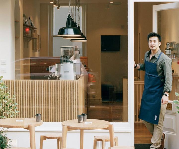 The Monocle Café on 18 Chiltern Street, London, UK
