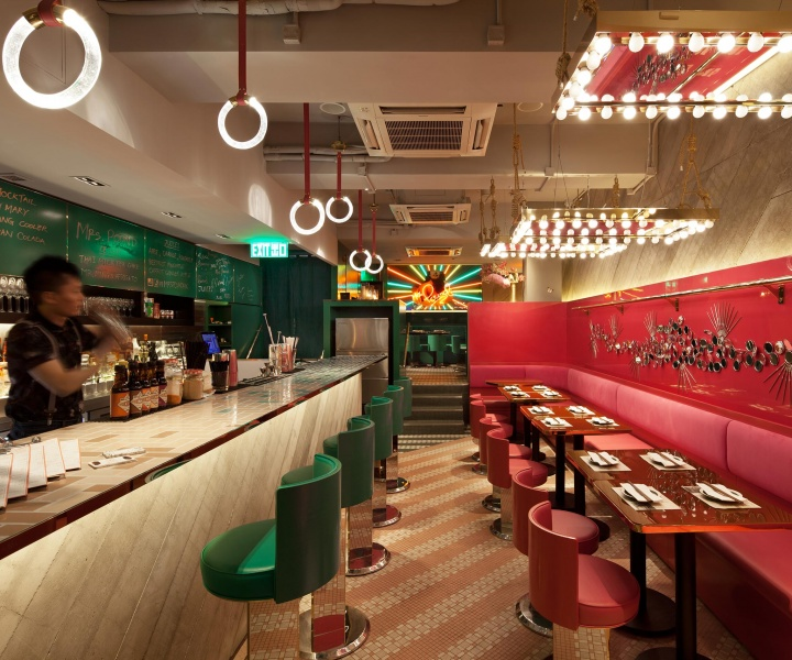 Mrs Pound Speakeasy Bar and Restaurant in Hong Kong by NCDA