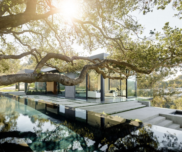 In the Woods: Oak Pass Main House by Walker Workshop in Beverly Hills