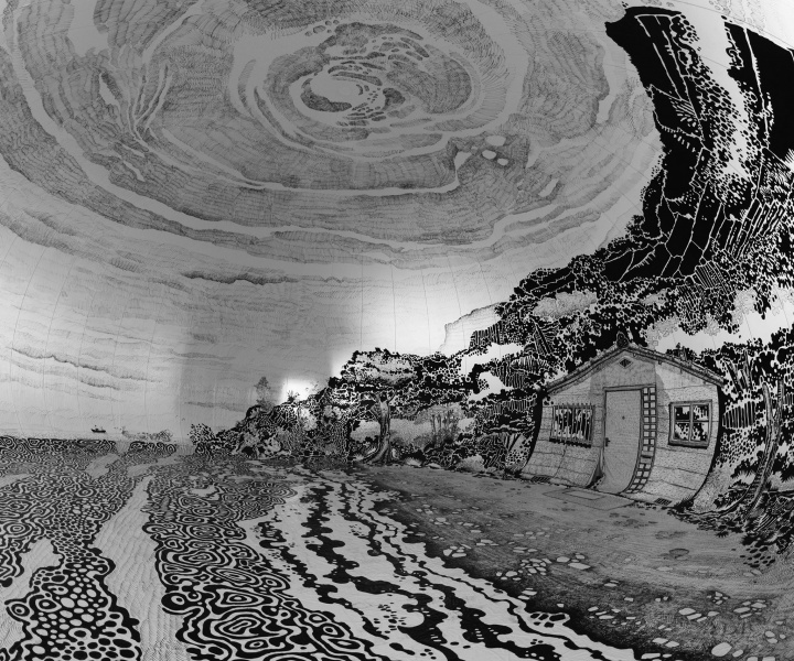 The World's Largest Drawing: An Inside-out Magical World by Oscar Oiwa