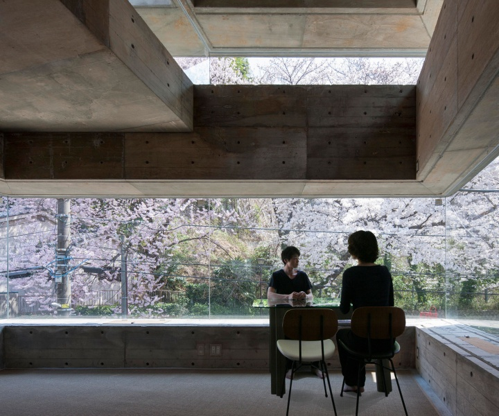The Buoyant Brutalism of the Oriel Window House in Yokohama, Japan