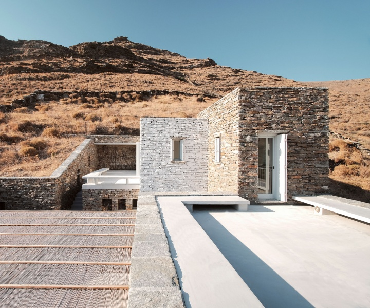 Cycladic Island Dreaming at Rocksplit Villa by Cometa Architects