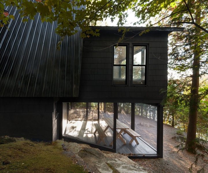 An A-Frame Storybook Hideaway in Canada's Laurentian Mountains