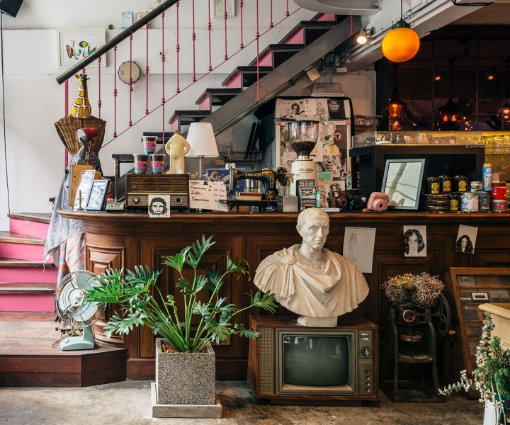Architecture, Graphic Design & Art Converge in a Restaurant of Intuitive Eccentricity in Bangkok
