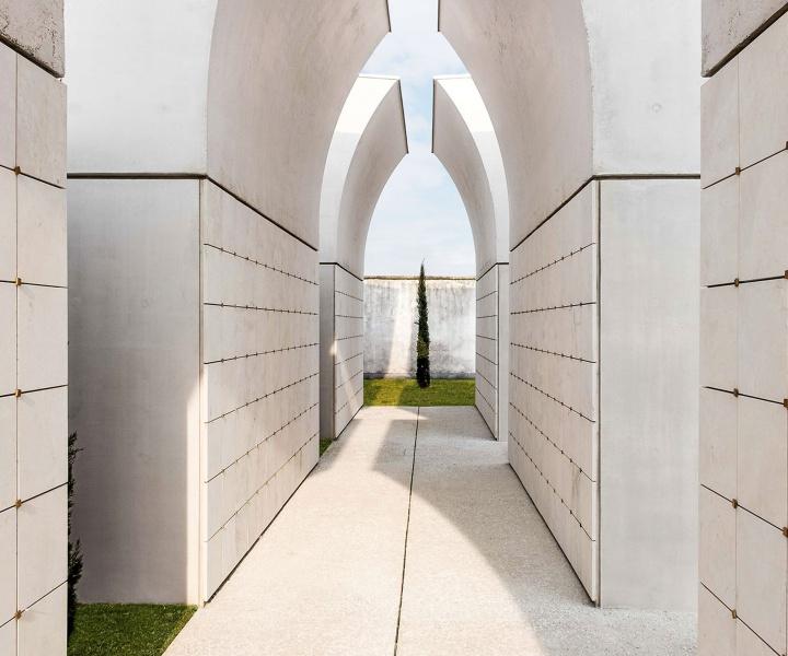 Sombre Concrete: Dalmine Cemetery Pavilion by CN10 ARCHITETTI