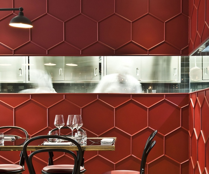 Red Truth: Le Vrai Brasserie and Boulangerie in Milan by Karine Lewkowicz