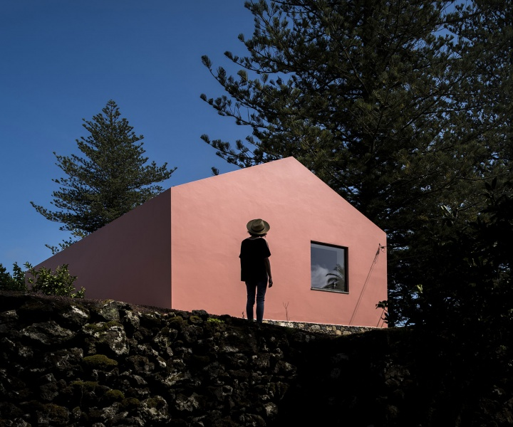 A Pretty Shade of Bubblegum Makes the Pink House Pop in the Azores