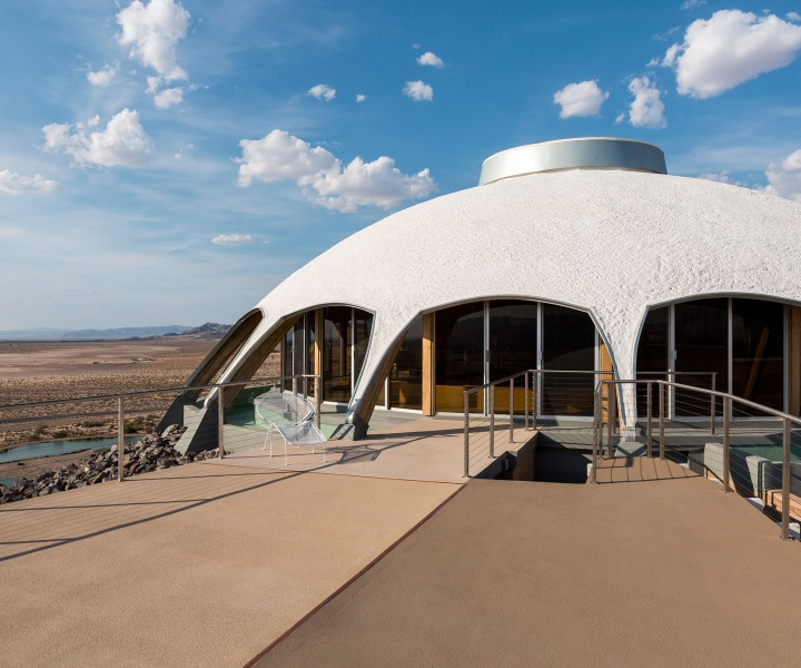 Futuristic Volcano House Gazes at the Stars in the Mojave Desert
