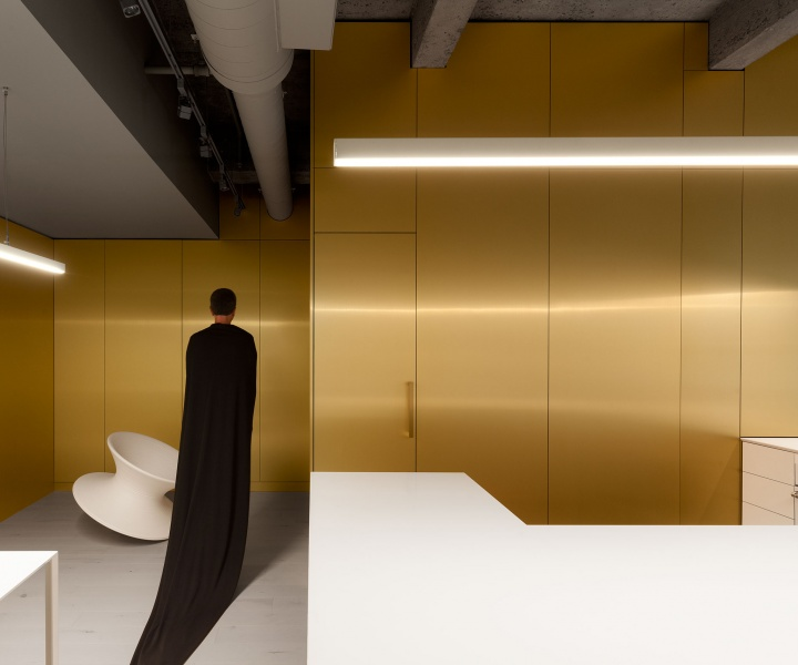 Symphony for Brass: A Conductor's Minimalist Apartment by Jean Verville