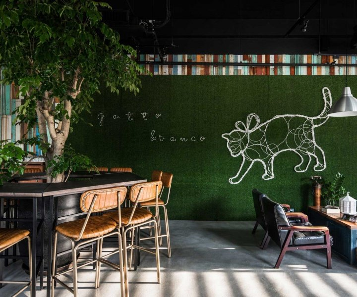 Ris Interior Design Brings a Vivid Playfulness to Taiwan's Gatto Bianco Bistro