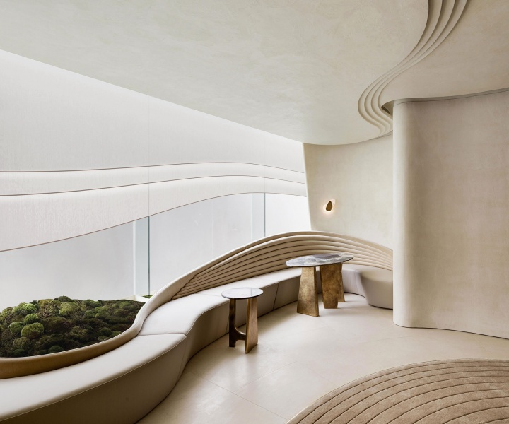 Nelson Chow Designs a VIP Lounge in Hong Kong as an Abstract Echo of Nature