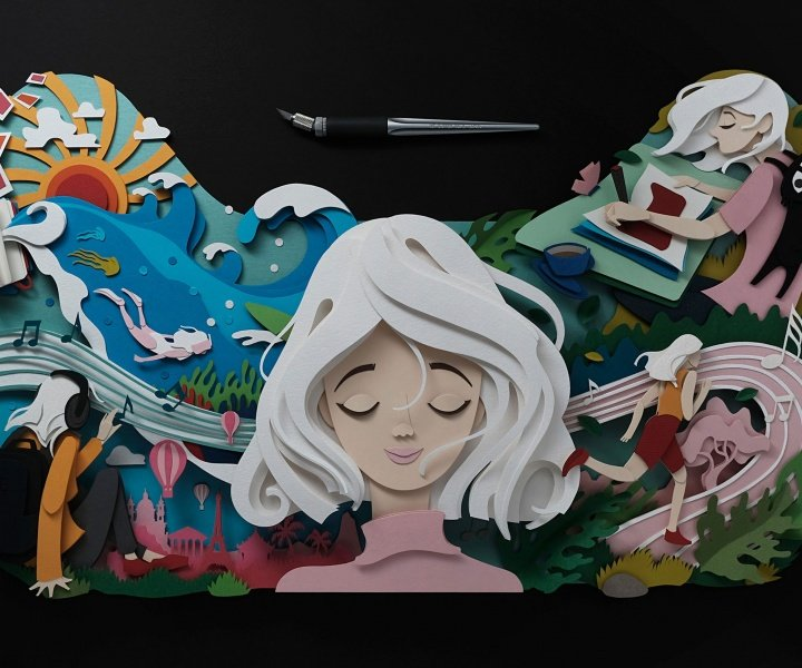 Pencil, Paper, Scissors… Paper Cut Illustrations by John Ed De Vera