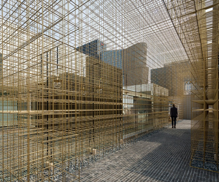 Endless Brass Grids Illuminate the New Sulwhasoo Flagship Store in Seoul