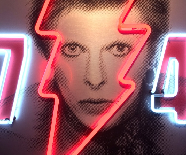 Shine Bright Like Bowie: Golden Years Neon Portraits by Louis Sidoli