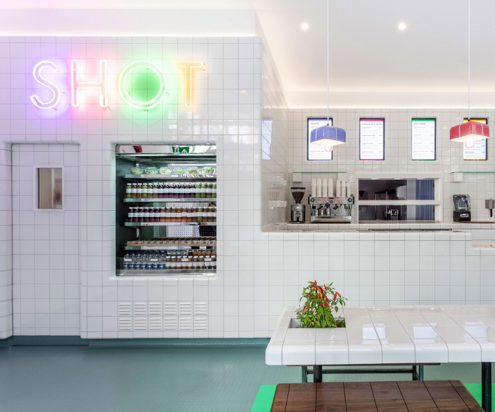 Nice SHOT: an All-White, Super-Healthy Food Bar in St. Paul's, London