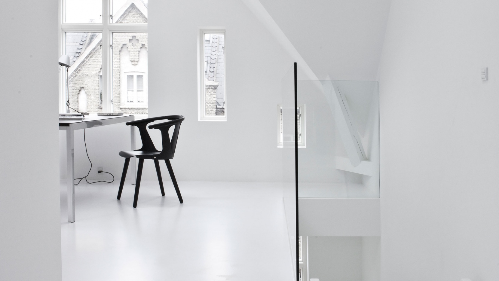 A black white townhouse by norm architects in copenhagen denmark