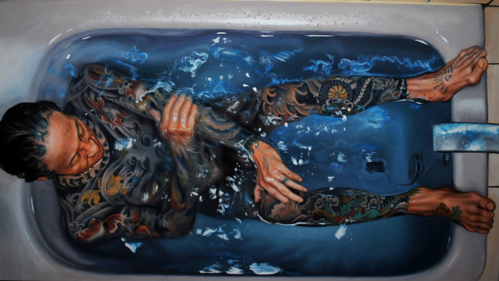 Photorealistic Portraits Of Swimmers By Gustavo Silva Nuñez Yatzer - Hyper realistic paintings nunez