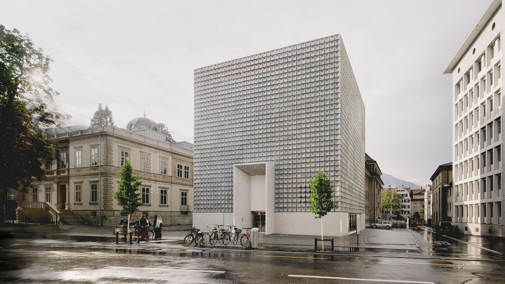 A Monolith Full Of Art For B 252 Ndner Kunstmuseum In Chur