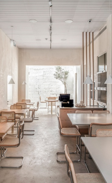 Opa Restaurant in Tel Aviv Pairs Minimalist, Handcrafted Interiors with Vegan Fine Dining