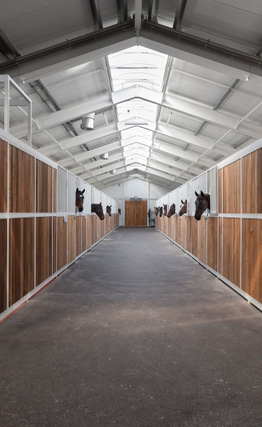 An Equestrian Facility in Ukraine Marries Vernacular and Industrial References with Contemporary Elegance