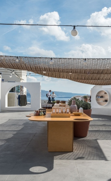 Cycladic Folklore Meets Contemporary Modernism at the Open Market on Santorini Island