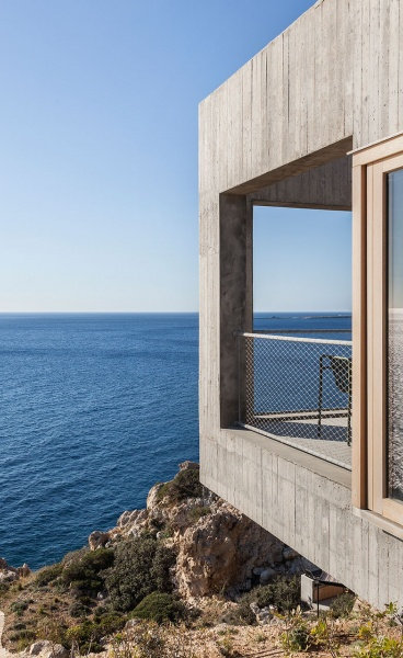Hovering Over the Aegean: Patio House in Karpathos, Greece