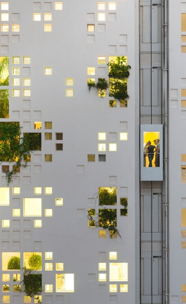 Message on the Walls: Jean Nouvel Completes Pixelated Tower in Nicosia, Cyprus