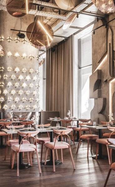 Moscow's Polet Café Celebrates Soviet Aviation Heritage with Retro-Futuristic Panache