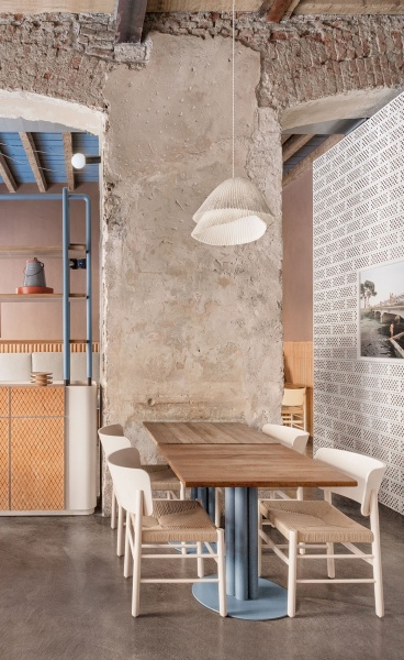 Cristina Celestino Revamps 28 Posti Restaurant in Milan with Natural Materials & Textures