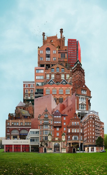 Archisculpture: Surreal Collages of Buildings by Beomsik Won