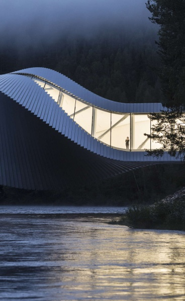 Architecture with a Twist: BIG's Sculptural Bridge in the Norwegian Countryside