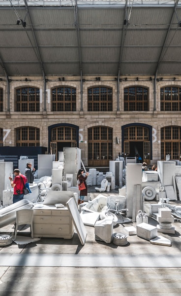VHILS Takes Over Paris with Two Ambitious Exhibitions of Urban Art