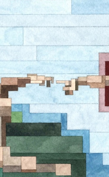 Art History Pixelated : New Watercolour Paintings by Adam Lister